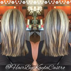Fun chunky highlight #blondehair #chunkyhighlights #highlight #hair #hairbykaylacastro