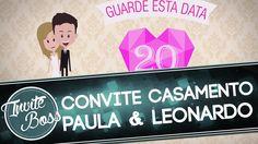 Convite Personalizado Casamento (Personagem) - Paula e Leonardo