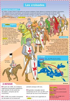 Science infographic and charts Les croisades Infographic Description Les croisades - Infographic Source - Ap French, French History, French Class, Learn French, French Phrases, French Words, French Alphabet, Medical Mnemonics, French Language Learning