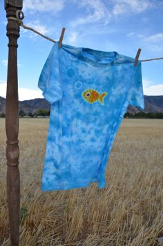 Check out my new shirt available on Etsy!  XL Youth, Tie Dye Fish Shirt