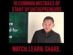 NEGOSYO TIPS: 10 COMMON MISTAKES OF STARTUP ENTREPRENEURS Pinoy, Mistakes, Online Courses, Entrepreneur, Learning, Business, Tips, Studying, Teaching