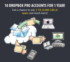 Enter to Win Dropbox Pro<br />For a Full Year!