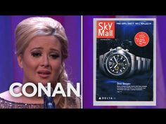 Conan's tribute to the Skymall catalog (may it rest in peace).