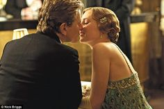 Romance: Lady Edith and Gregson share a kiss