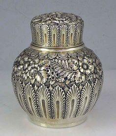 A Tiffany's silver tea caddy. #tea