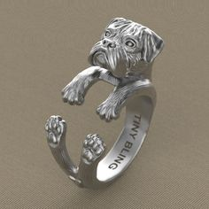 Handmade Boxer Dog Jewelry. 925 Sterling Silver by TinyBling