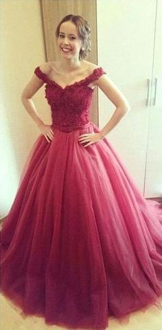Charming Prom Dress,Lace Prom Dress,Long Tulle Prom Dresses Off Shoulder Party Dresses Floor Length Dresses
