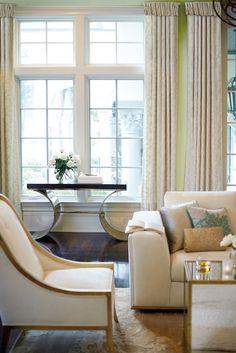 Bernhardt | Jet Set Console Table | Henderson Chair, Prague Sofa, Jet Set End Table