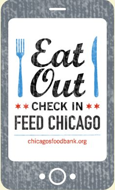 Eat Out Check In #app - help end hunger in #Chicago