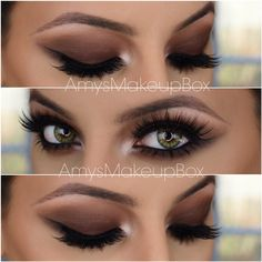 This brown smokey eye video tutorial Gorgeous Makeup, Love Makeup, Makeup Inspo, Makeup Inspiration, Gorgeous Eyes, Makeup Goals, Makeup Tips, Beauty Makeup, Hair Beauty