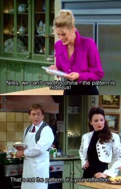 The Nanny-such a good show! Niles and CC have always had their differences!
