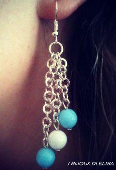 Cascata di perline in questi orecchini mooooolto estivi!!!  #earrings #orecchini #summer #handmade