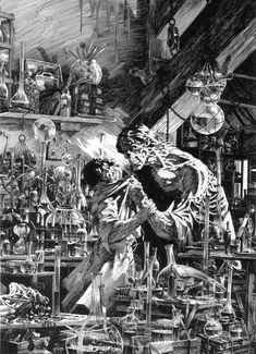 Frankenstein / Bernie Wrightson - i have this book. was one of my favorties to get absorbed in the drawings, when i was younger. Must find it.