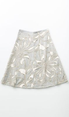 magdalena swing skirt, parchment top layer, natural bottom layer