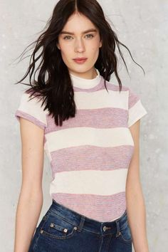 After Party Vintage Start Me Up Striped Tee - What's New