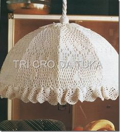 crochet lampshade dagram