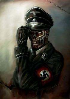 Call of Duty Swastika Nazi Zombies of Hitler - Undead Zombie SS Stormtrooper Walker Black Ops Zombies, Dead Snow, Call Of Duty Zombies, Mein Land, Black Ops 3, Zombie Art, Evil Clowns, Scary Clowns, Call Of Duty Black