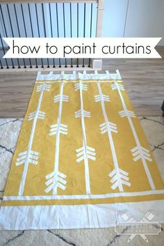 How to paint curtains.  Customize cheap IKEA curtains any way you want!
