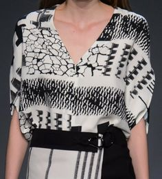 patternprints journal: PATTERNS, PRINTS, TEXTURES AND SURFACES INTO F/W 2016/17 FASHION COLLECTIONS / NEW YORK 13 - Zero + Maria Cornejo