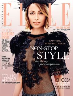 cool Elle Australia July 2014 | Nicole Richie by Justin Coit  [Cover]