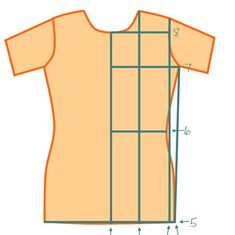 Tee shirt pattern tutorial. Make a tee shirt pattern from one of your own.