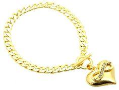 Golden Infinity Heart Bracelet