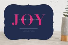 """Sending Joy"" - Holiday Petite Cards in Forest by Seven Swans."