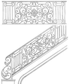 Stair Railing Designs ISR105