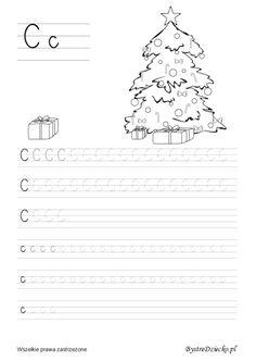 Nauka pisania dla dzieci, c pisane, pomoc w kształceniu grafomotoryki, Anna Kubczak