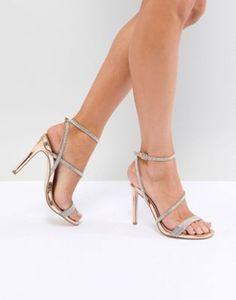 6393198b1fb519 ASOS DESIGN Hartly Embellished Heeled Sandals at asos.com