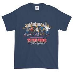 The Five Burros of New York©-Street Logo-Men's Short sleeve t-shirt