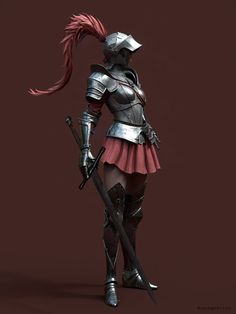Hi guys. i hope you guys like it. made for Netease Fantasy Female Warrior, Female Armor, Female Knight, Fantasy Armor, Dungeons And Dragons Characters, Fantasy Characters, Female Characters, Fantasy Character Design, Character Design Inspiration