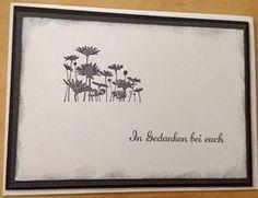 Trauerkarte mit Best of Flower Set von SU Stampin Up, Black And White, Flowers, Cards, Black N White, Black White, Stamping Up, Maps, Royal Icing Flowers