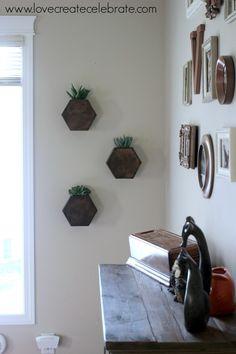 Hexagon Wall Box Arrangement Inspiration