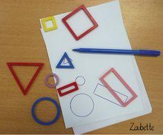 Encore une idée trouvée sur Pinterest ! Il s'agit de tracer le contour des formes. J'ai choisi des formes...