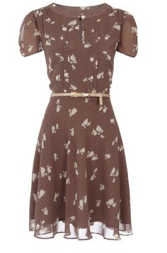mink swan tea dress... {reminds me a tiny bit of Pretty Woman... it's that brownish color I think} so cute.