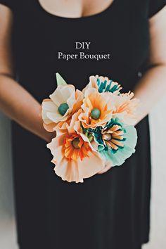 DIY Crepe Paper Flowers Ruffled