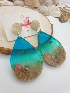 Epoxy Resin Art, Diy Epoxy, Resin Molds, Blue Earrings, Statement Earrings, Dangle Earrings, Uk Summer, Diy Molding, Women Jewelry