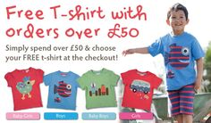 Free Frugi t-shirt with orders over £50 :)