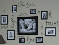 love this for our family photo wall
