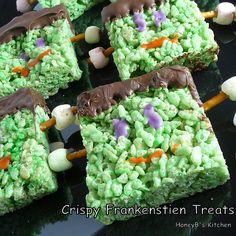 Frankenstein Rice Krispie Treats (from my 24x24 Foodbuzz Post)