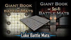 Two sizes of lay flat books with wipe clean battle mat pages for tabletop RPG with either a fantasy or sci-fi theme