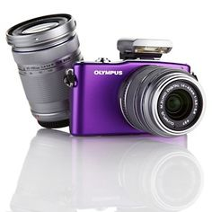 Olympus PEN E-PM1 12.3MP 1080p HD Detachable-Lens Digital Camera with Two Zoom Lenses and Software at HSN.com Huge dream :) Mine