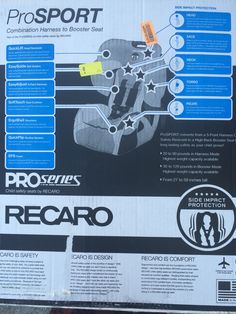 Recaro Prosport Car seat. Bought from a really nice couple in Piedmont on Dec. 4, 2015.