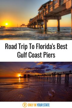 This Florida road trip is perfect for summer fun. Explore the Gulf Coast's best and most beautiful piers and beaches. Bradenton Beach, Clearwater Beach, Summer Travel, Summer Fun, Naples Pier, Haunted Places, Road Trip Usa, Florida Travel