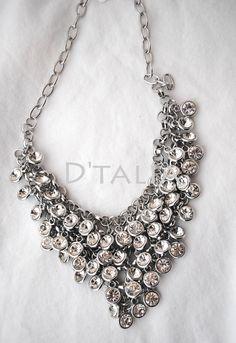 D'Talia - Rhinestone Silver Statement Necklace, $30.00 (https://store-1a667.mybigcommerce.com/rhinestone-silver-statement-necklace/)