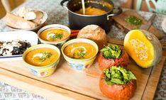 Sopa de lentejas con tomate, zapallo asado y curry para @HelloWineChile