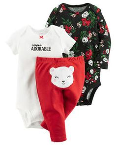 b4bb823c020f 3-Piece Little Character Set Cute Baby Girl