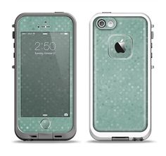 The Small Green Polkadotted Surface Apple iPhone by TheSkinDudes