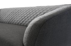Salton,   3-seater sofa, Trim Dark Slate Grey/Andie Light Grey